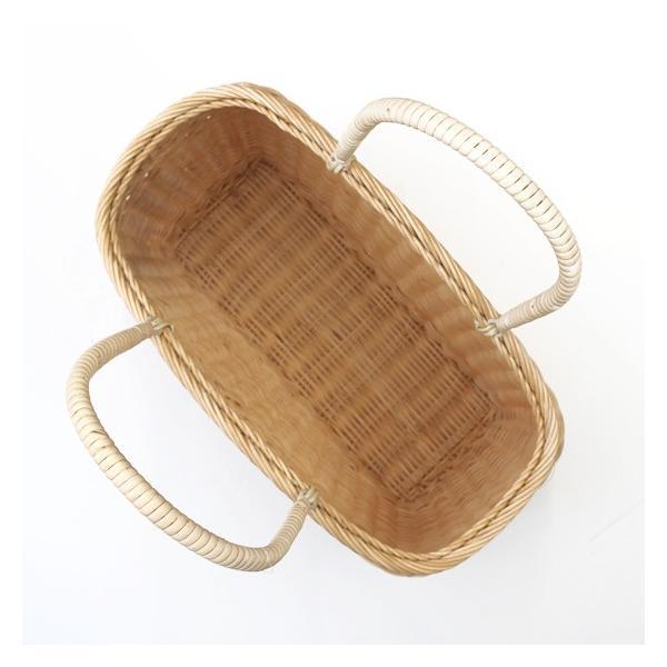 松野屋 日本製 籐コヅツ 買物かご かごバッグ カゴ 生成B-S バスケット カゴバッグ インテリア 収納 おしゃれ 藤