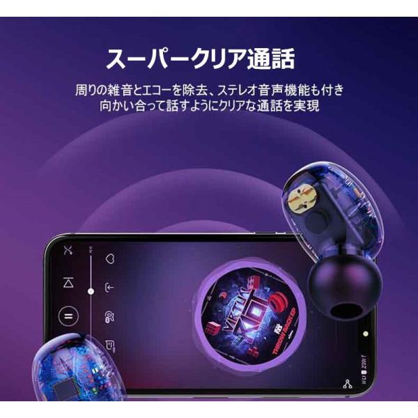 ワイヤレスイヤホン Bluetooth 5.0 ヘッドセット IPX防水 自動ペアリング 両耳 左右分離型 Hi-Fi高音質 指紋タッチ操作 2200mAh大容量 軽量 完全ワイヤレス|slub-shop|16