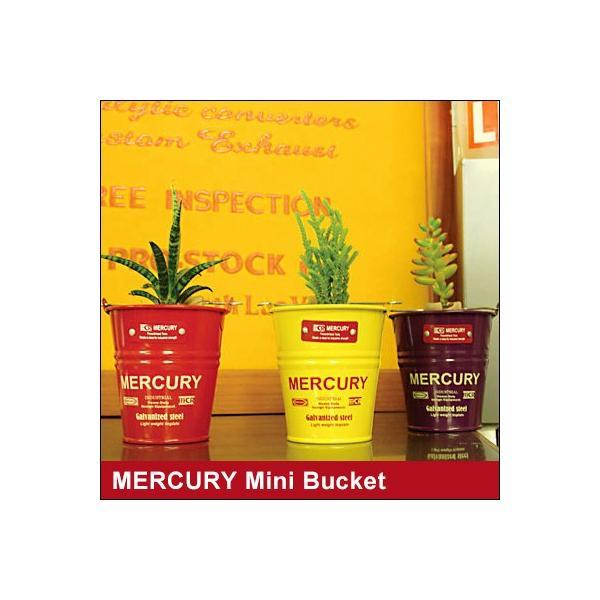 mercury 缶バケツ MERCURY/マーキュリー ミニバケツ 収納バケツ マーキュリーペンたて アメリカン雑貨 おしゃれ デスク収納 ミニプランター 収納ボックス