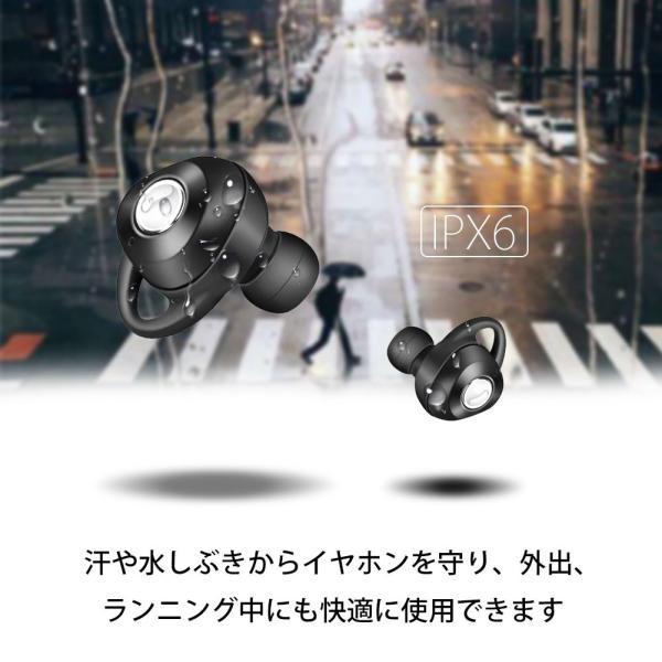 完全ワイヤレスイヤホン ブルートゥース Bluetooth 5.0 Line両耳通話対応 自動ペアリング 充電式収納ケース付き iPhone/ipad/Android適用 smagenshop 02