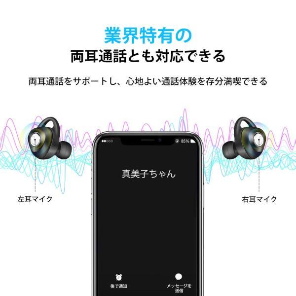 完全ワイヤレスイヤホン ブルートゥース Bluetooth 5.0 Line両耳通話対応 自動ペアリング 充電式収納ケース付き iPhone/ipad/Android適用 smagenshop 07