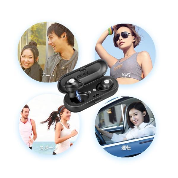 完全ワイヤレスイヤホン ブルートゥース Bluetooth 5.0 Line両耳通話対応 自動ペアリング 充電式収納ケース付き iPhone/ipad/Android適用 smagenshop 10
