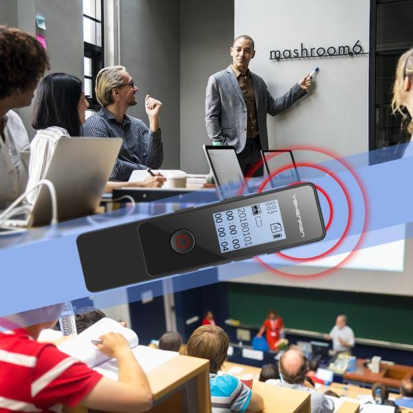 ボイスレコーダー ICレコーダー 録音機 8GB 48時間録音 内蔵スピーカー 高音質 軽量 操作簡単 超小型 イヤホン付き 1年保証 日本語説明書付き|smagenshop|06