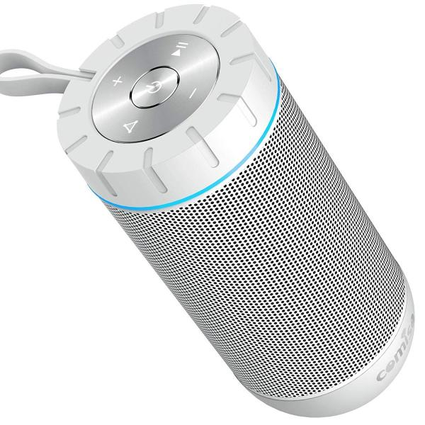 Bluetooth スピーカー ワイヤレススピーカー ホワイト/ローズレッド 高音質 36時間連続再生 完全ワイヤレスステレオ対応 IPX5防水規格 マイク内蔵|smagenshop|12