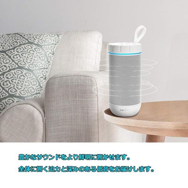 Bluetooth スピーカー ワイヤレススピーカー ホワイト/ローズレッド 高音質 36時間連続再生 完全ワイヤレスステレオ対応 IPX5防水規格 マイク内蔵|smagenshop|05