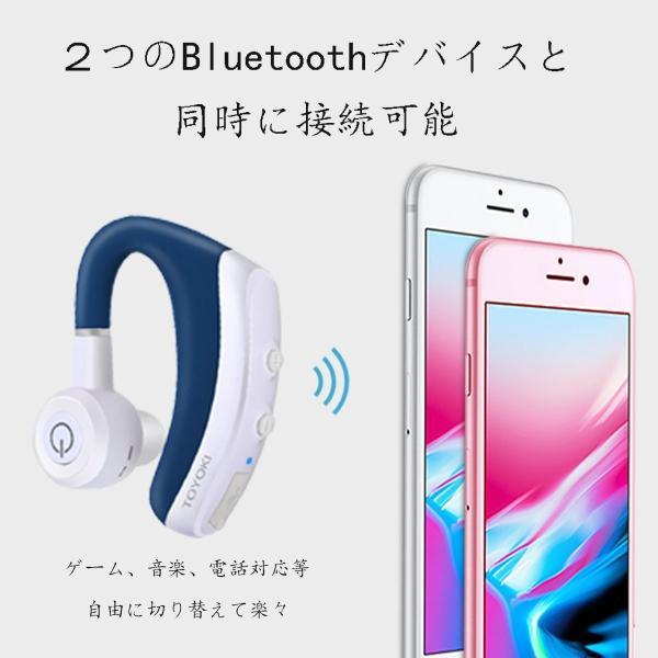 ヘッドセットBluetooth  ワイヤレスイヤホン ブルートゥース 両耳どちらでも使える ハンズフリー 通話 Android Iphone PC スマートフォンに対応|smagenshop|02