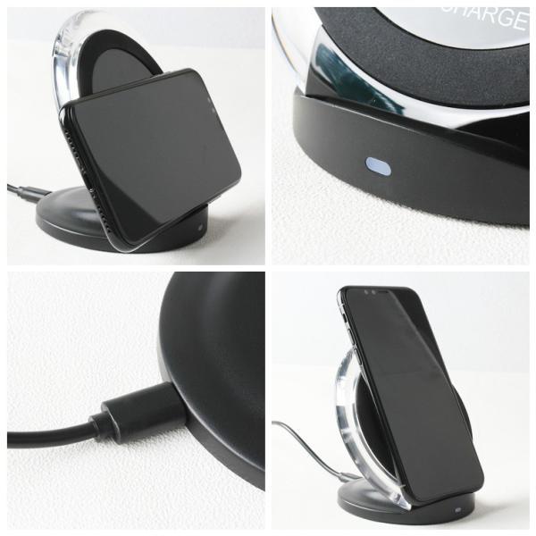 ワイヤレス充電器 Qi規格 スマホスタンド 全機種対応 iPhone Android ワイヤレス充電 Qiチャージャー iPhone XS/XS Max/XR 無接点充電器 スタンド|smahoservic|06