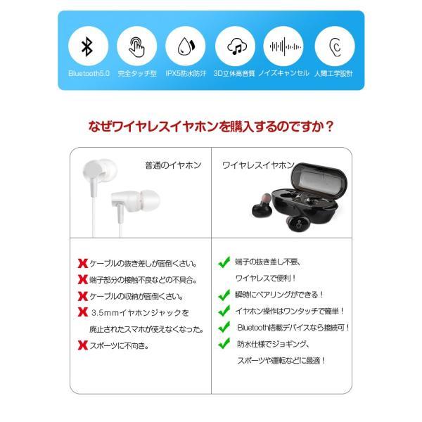 Bluetooth 5.0 進化版 ワイヤレス イヤホン Bluetooth 5.0 ワイヤレス イヤホン ランニング ブルートゥース ワイヤレスイヤホン スポーツ|smahoservic|03