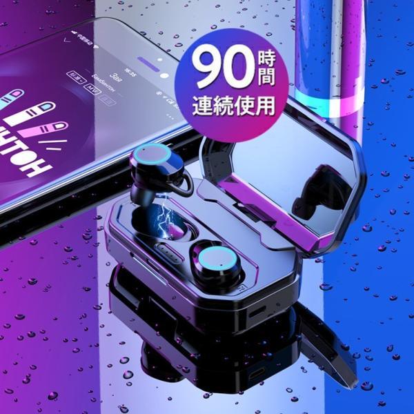 ワイヤレス イヤホン Bluetooth 5.0 ワイヤレス イヤホン ランニング イヤホン ブルートゥース iPhone 充電 モバイルバッテリー マグネット 無線|smahoservic|12
