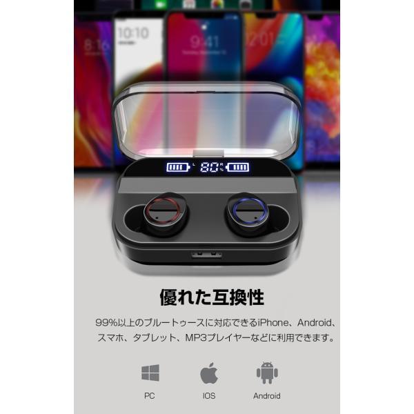 Bluetooth 5.0 ワイヤレスイヤホン Bluetooth イヤホン ブルートゥース イヤホン 残量表示 両耳 片耳 IPX7防水 Hi-Fi 高音質 自動ペアリング スポーツ 運動|smahoservic|17
