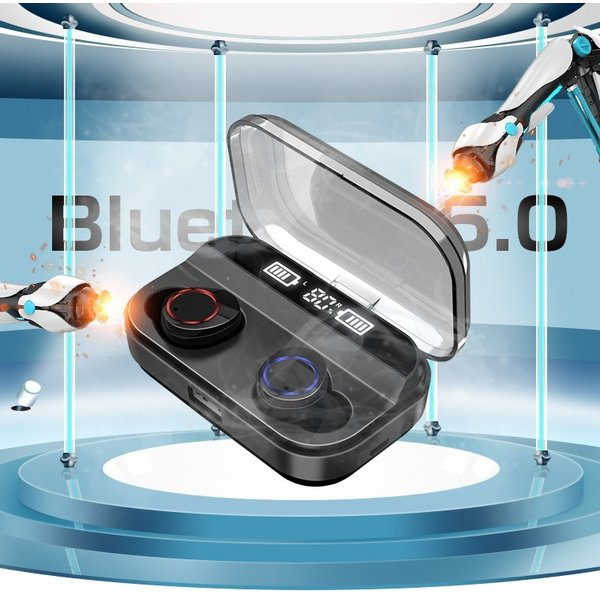 Bluetooth 5.0 ワイヤレスイヤホン Bluetooth イヤホン ブルートゥース イヤホン 残量表示 両耳 片耳 IPX7防水 Hi-Fi 高音質 自動ペアリング スポーツ 運動|smahoservic|04