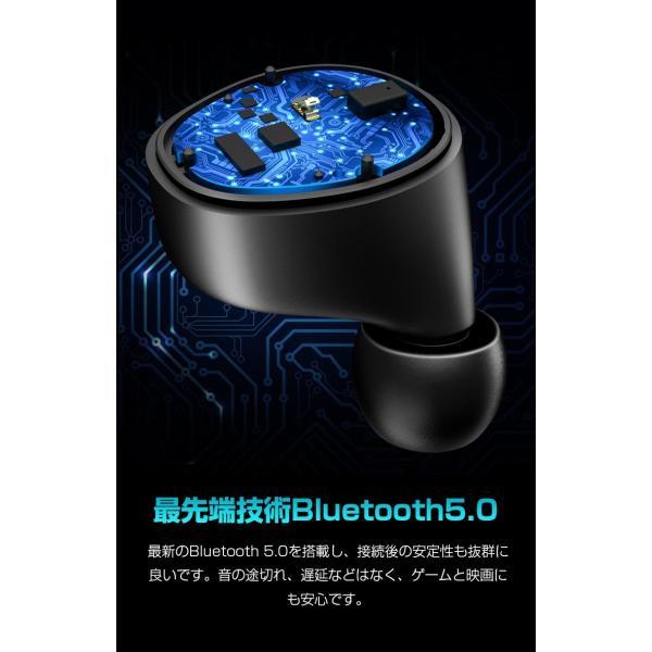 Bluetooth 5.0 ワイヤレスイヤホン Bluetooth イヤホン ブルートゥース イヤホン 残量表示 両耳 片耳 IPX7防水 Hi-Fi 高音質 自動ペアリング スポーツ 運動|smahoservic|09
