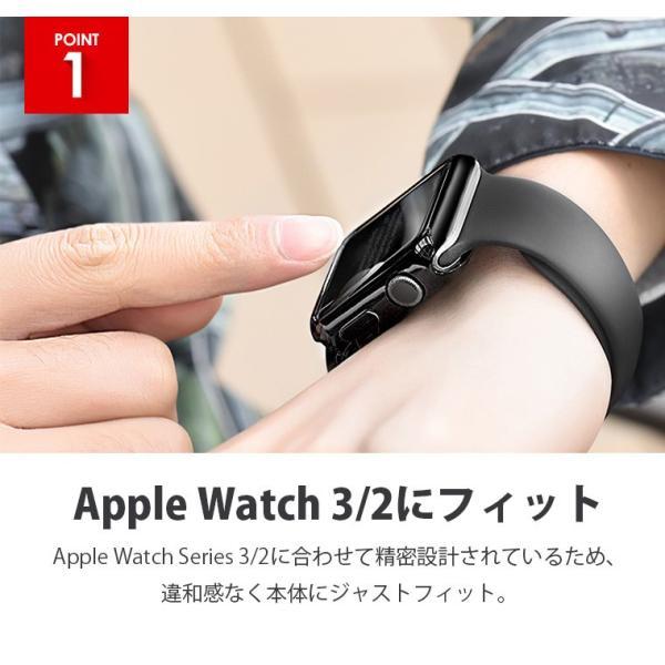 Apple Watch 5 ケース 44mm アップルウォッチ4 カバー 40mm Apple Watch Series 3 42mm 38mm 超薄型 カバー アイフォンウォッチ 全面保護 ケース|smahoservic|06