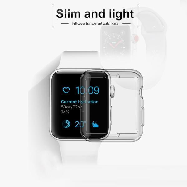 アップルウォッチ カバー ケース 液晶 保護 Apple Watch フル カバー Series 4 3 2 1 保護ケース 44 40 42 38 mm  TPU 薄型|smaif|02