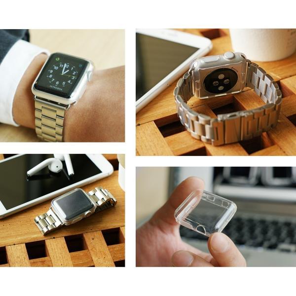 アップルウォッチ カバー ケース 液晶 保護 Apple Watch フル カバー Series 4 3 2 1 保護ケース 44 40 42 38 mm  TPU 薄型|smaif|05