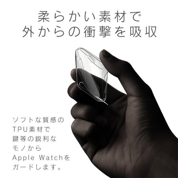 アップルウォッチ カバー ケース 液晶 保護 Apple Watch フル カバー Series 4 3 2 1 保護ケース 44 40 42 38 mm  TPU 薄型|smaif|09