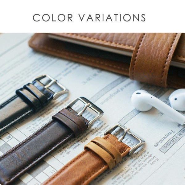 アップルウォッチ バンド ベルト 革 Apple Watch 4 3 2 1 本革 38 40 42 44 mm 牛革 おしゃれ 送料無料|smaif|14