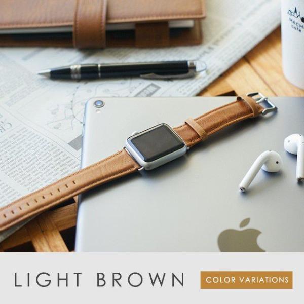 アップルウォッチ バンド ベルト 革 Apple Watch 4 3 2 1 本革 38 40 42 44 mm 牛革 おしゃれ 送料無料|smaif|15