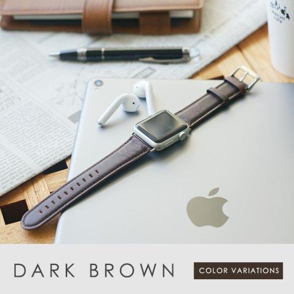 アップルウォッチ バンド ベルト 革 Apple Watch 4 3 2 1 本革 38 40 42 44 mm 牛革 おしゃれ 送料無料|smaif|16