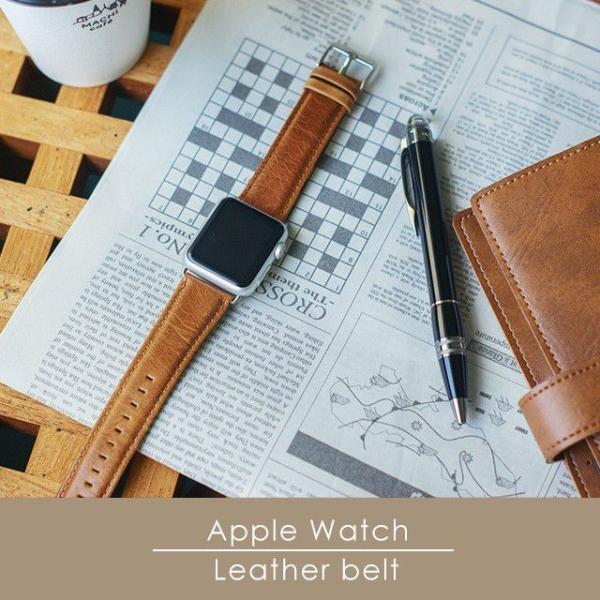 アップルウォッチ バンド ベルト 革 Apple Watch 4 3 2 1 本革 38 40 42 44 mm 牛革 おしゃれ 送料無料|smaif|20