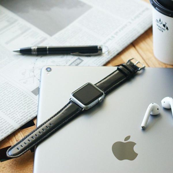アップルウォッチ バンド ベルト 革 Apple Watch 4 3 2 1 本革 38 40 42 44 mm 牛革 おしゃれ 送料無料|smaif|03