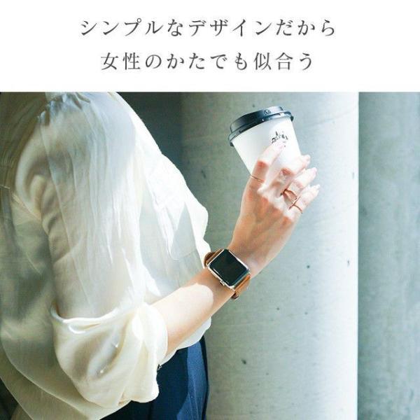 アップルウォッチ バンド ベルト 革 Apple Watch 4 3 2 1 本革 38 40 42 44 mm 牛革 おしゃれ 送料無料|smaif|06