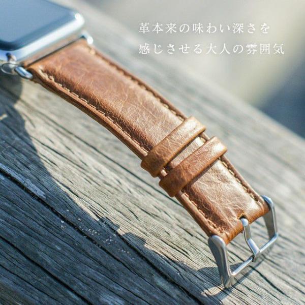 アップルウォッチ バンド ベルト 革 Apple Watch 4 3 2 1 本革 38 40 42 44 mm 牛革 おしゃれ 送料無料|smaif|10