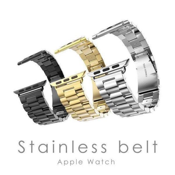 Apple Watch バンド ベルト アップルウォッチ ステンレス 38 40 42 44 mm Series シリーズ 4 3 2 1 錆びにくい 交換 ウォッチバンド 調整器具付 smaif 02