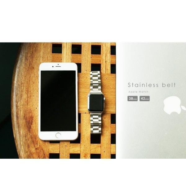 Apple Watch バンド ベルト アップルウォッチ ステンレス 38 40 42 44 mm Series シリーズ 4 3 2 1 錆びにくい 交換 ウォッチバンド 調整器具付 smaif 17