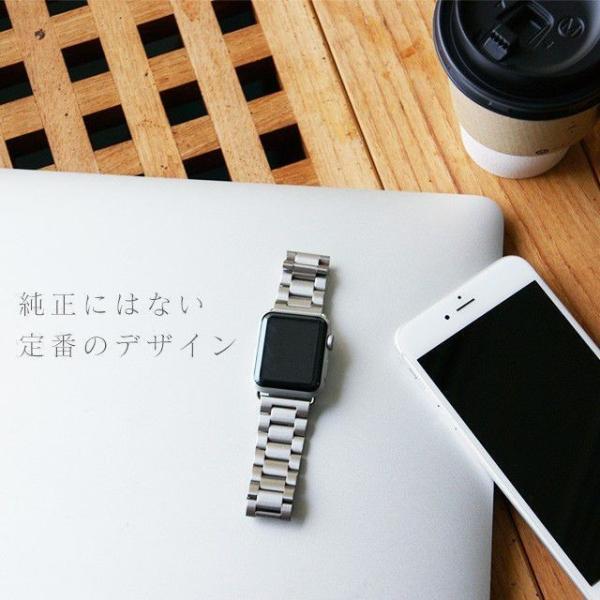 Apple Watch バンド ベルト アップルウォッチ ステンレス 38 40 42 44 mm Series シリーズ 4 3 2 1 錆びにくい 交換 ウォッチバンド 調整器具付 smaif 18