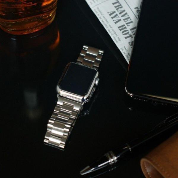 Apple Watch バンド ベルト アップルウォッチ ステンレス 38 40 42 44 mm Series シリーズ 4 3 2 1 錆びにくい 交換 ウォッチバンド 調整器具付 smaif 04