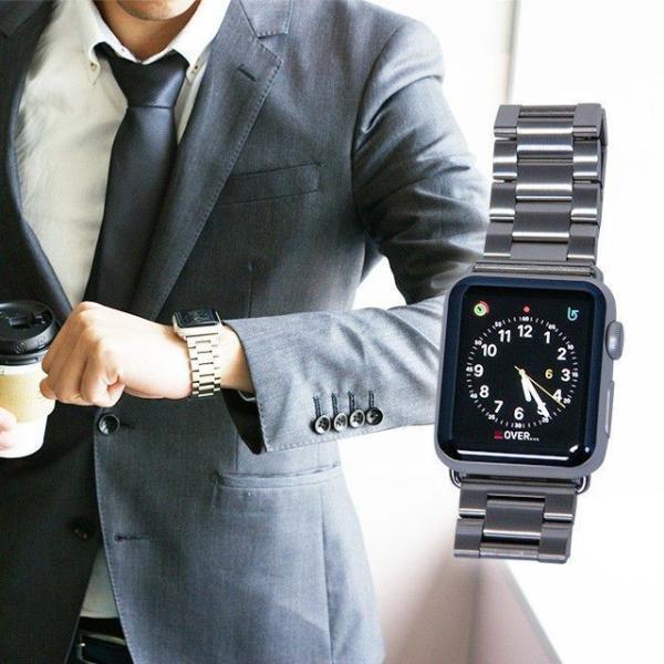 Apple Watch バンド ベルト アップルウォッチ ステンレス 38 40 42 44 mm Series シリーズ 4 3 2 1 錆びにくい 交換 ウォッチバンド 調整器具付 smaif 06