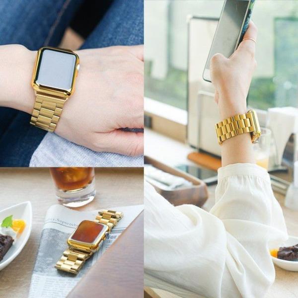 Apple Watch バンド ベルト アップルウォッチ ステンレス 38 40 42 44 mm Series シリーズ 4 3 2 1 錆びにくい 交換 ウォッチバンド 調整器具付 smaif 07