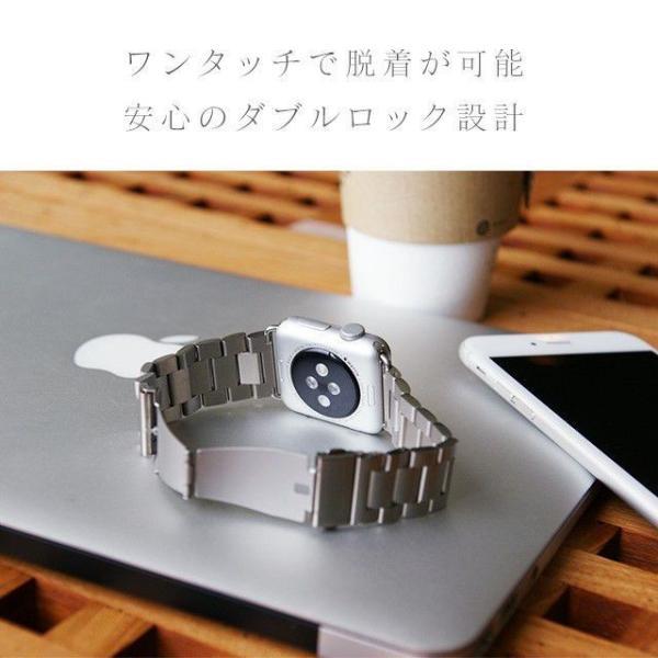 Apple Watch バンド ベルト アップルウォッチ ステンレス 38 40 42 44 mm Series シリーズ 4 3 2 1 錆びにくい 交換 ウォッチバンド 調整器具付 smaif 10