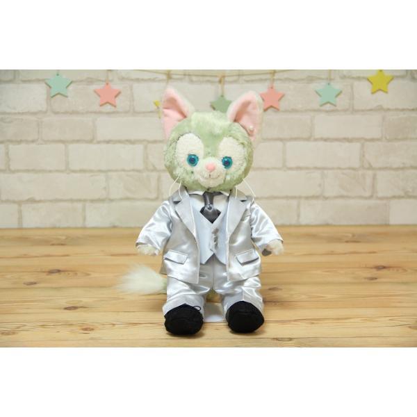 ジェラトーニ(S)用のタキシード手作りウェルカムドール衣装キット(グレー)|small-h|02