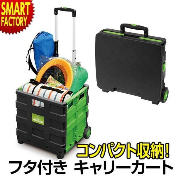 キャリーカート 軽量 折りたたみ 買い物 フタ付き 台車 キャリーワゴン コンパクト カート イス 耐荷重25kg 大容量 30L