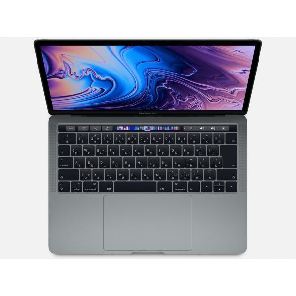 MacBookPro 13インチ Touch Bar搭載モデル[2018年/SSD 256GB/メモリ 8GB/2.3GHzクアッドコア Core i5]スペースグレイ MR9Q2J/Aの画像