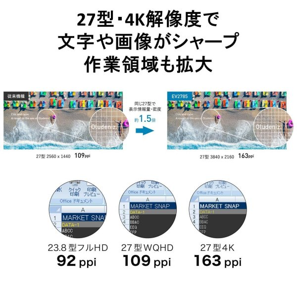 EIZO FlexScan EV2785-WT [27インチ ホワイト] smart1-shop 03