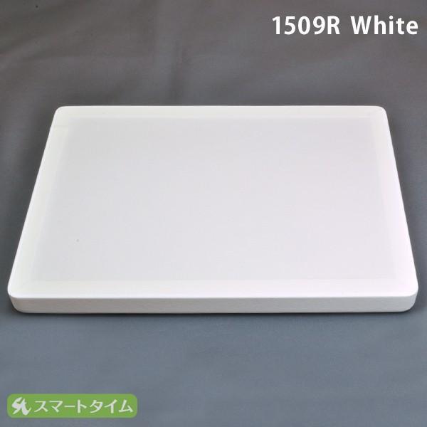 ジュエリートレイ リング付き接客トレイ 230×160×20 レザー調 白 ホワイト 1509R アクセサリートレイ トレー