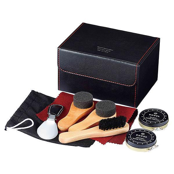 靴磨きのプレゼント シューシャインセット オシャレなお父さんに 名入れができるシューケアセット