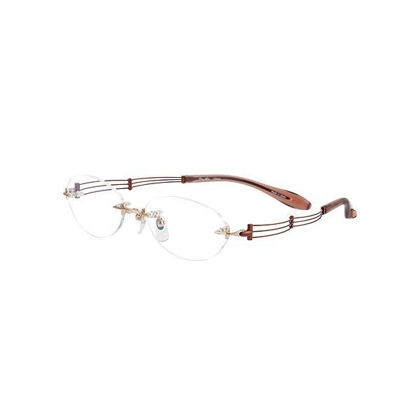 メガネ 眼鏡 めがねフレーム Line Art ラインアート シャルマンレディースメガネフレーム トリオコレクション XL1049-BR