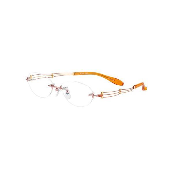 メガネ 眼鏡 めがねフレーム Line Art ラインアート シャルマンレディースメガネフレーム トリオコレクション XL1049-OR