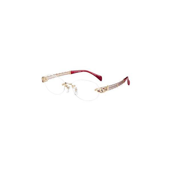 メガネ 眼鏡 めがねフレーム Line Art ラインアート シャルマンレディースメガネフレーム オペラスワロスキーコレクション XL1654-RE
