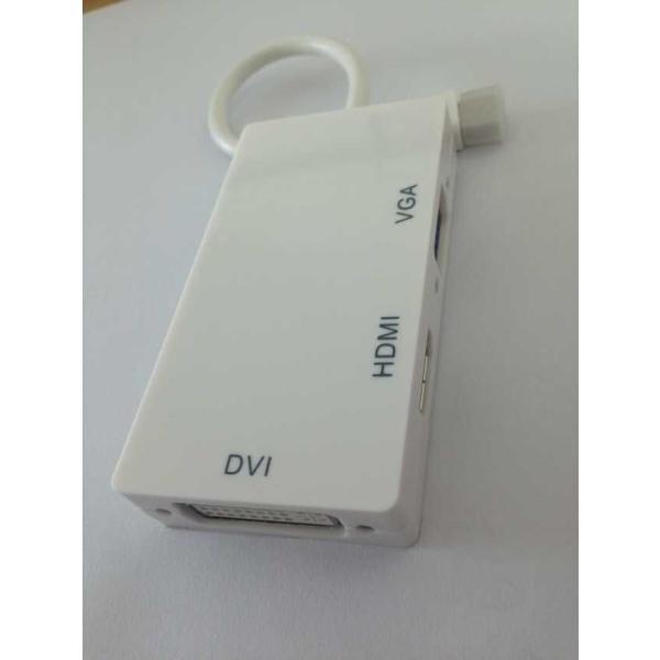 MINI DisplayPort to VGA/DVI-D/HDMI 変換アダプタ 3in1 変換 アダプタ mini DP to VGA/DVI-D/HDMI 変換ケーブル 変換アダプタ メール便 送料無料|smartnet|03