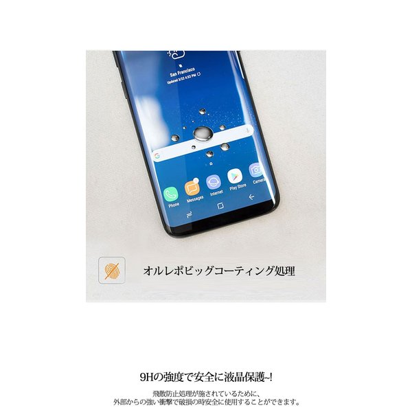 GalaxyS9 ガラスフィルム Galaxy S9 SC-02K sc02k SCV38 耐衝撃 Note9 Note8 S9+ S8+ S8 S7 Edge 強化液晶 耐衝撃 曲面 全面保護 ギャラクシーs9 3D Glassfilm|smartno1|05