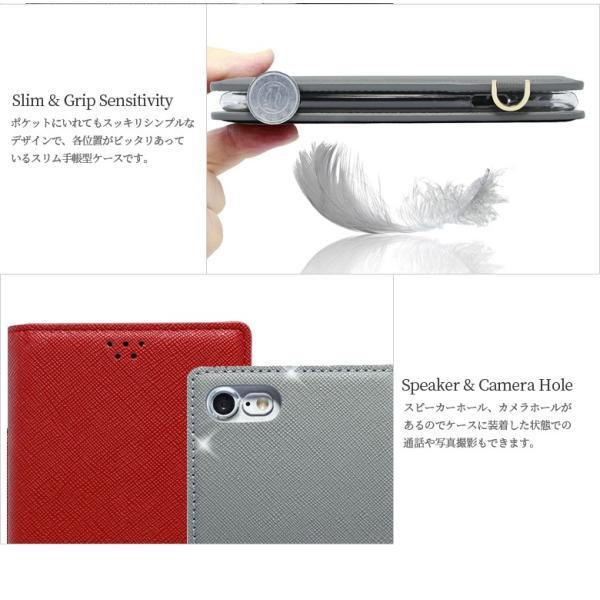 Galaxy S9 SCV38 ケース 手帳型 カバー フィルム 付き GalaxyS9 sc02k 手帳 手帳型ケース スマホケース ギャラクシーs9 おしゃれ TASSLEFLIP RED smartno1 08