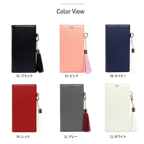 Galaxy S9 SCV38 ケース 手帳型 カバー フィルム 付き GalaxyS9 sc02k 手帳 手帳型ケース スマホケース ギャラクシーs9 おしゃれ TASSLEFLIP RED smartno1 10