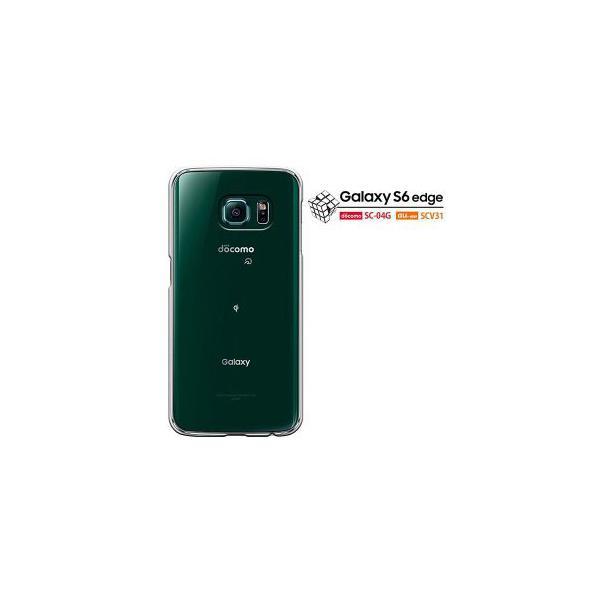 Samsung Galaxy S6 edge docomo SC-04G   au SCV32 ギャラクシー S6 カバー ケース スマホケース 無地 透明 クリアケース セール