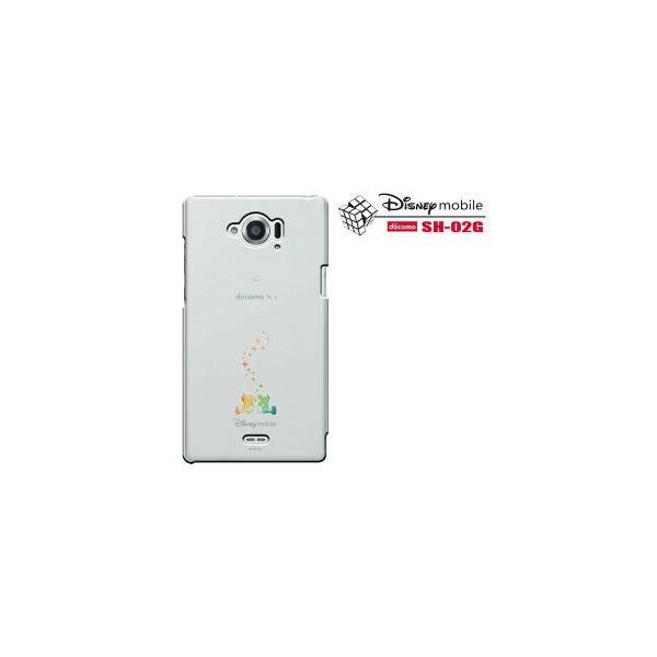 Disney Mobile on docomo SH-02G ドコモ スマートフォン SH02G SH-02G カバー  SH-02G スマホケース スマホカバー 無地 透明 クリアケース