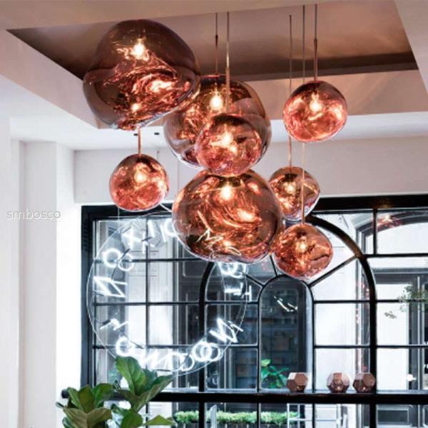 北欧おしゃれペンダントライトダイニングガラス溶岩ランプ天井照明照明器具居間用玄関寝室E271灯20CM